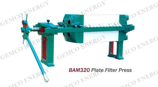 BAM 320 plate and frame filter press machine