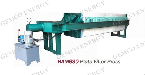BAM 630 plate and frame filter press